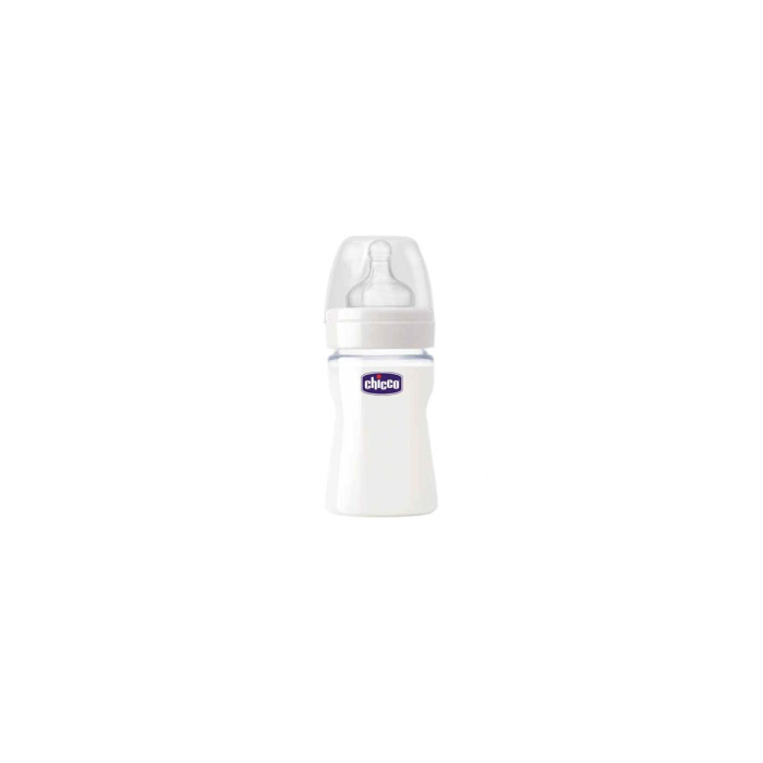 Chicco Naturel Glass 150 ml Silikon Cam Biberon 0ay+